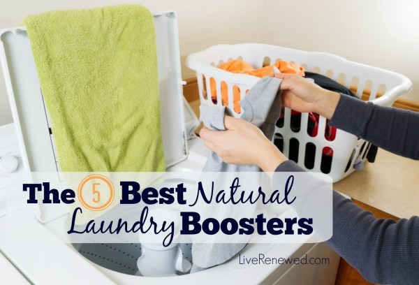 Looking for cleaner brighter laundry without the harsh chemicals found in conventional laundry products? Here are the 5 Best Natural Laundry Boosters at LiveRenewed.com