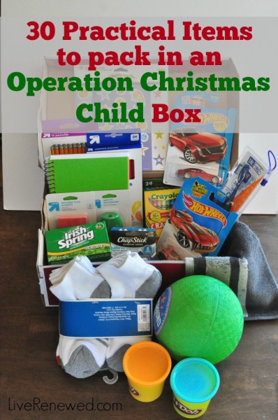 Operation Christmas Child Boxes.30 Practical Items To Pack In An Operation Christmas Child Box