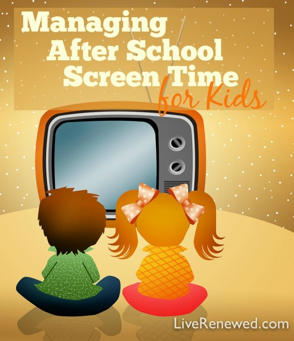 Managing After School Screen Time for Kids - A helpful and intentional plan to help manage after school screen time for kids.