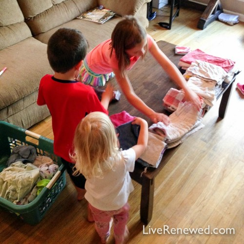 Kids doing chores