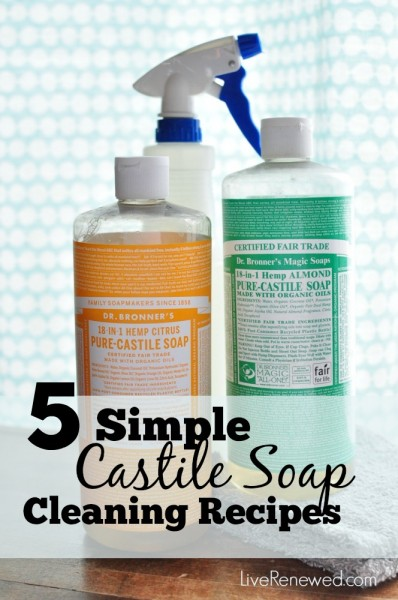Replace Five Conventional Household Cleaners With These Simple Castile Soap Cleaning Solutions Save Money And