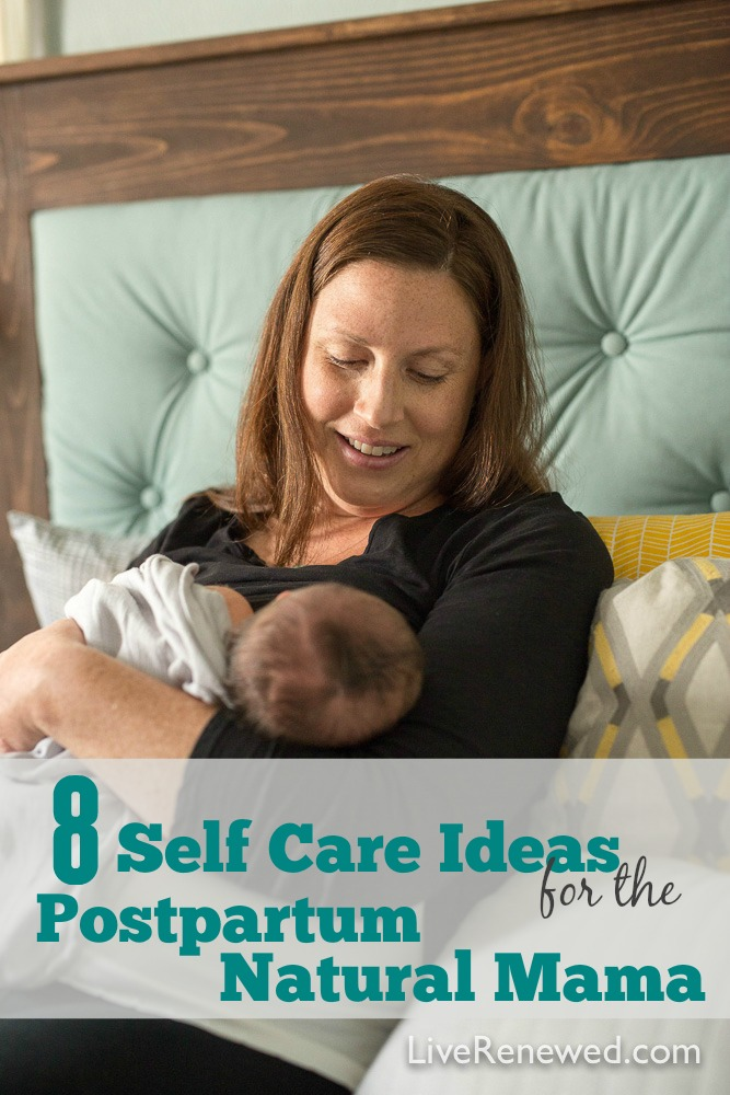 Postpartum Recovery Self Care for the Natural Mama - Snuggling your sweet new babe but feeling exhausted and overwhelmed? These tips and ideas will help you recover and heal more quickly after having a baby.