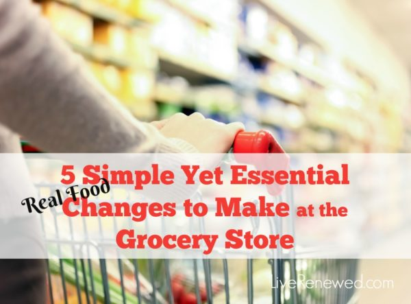 Do you feel overwhelmed about which healthy foods to buy at the grocery store? You need to make these five simple changes on your next grocery trip!