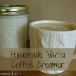Homemade Vanilla Coffee Creamer - so easy, and so much better than the conventional, store-bought kind!