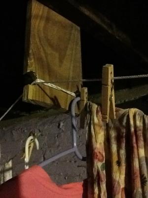 hanging an indoor clothesline