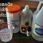 Homemade Reusable Disinfecting Wipes from LiveRenewed.com