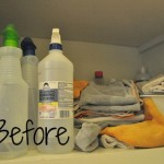 organizing homemade cleaners