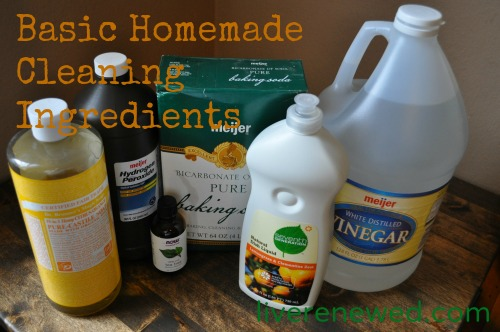 basic homemade cleaning ingredients