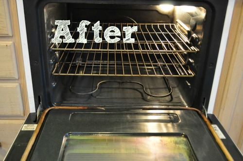 cleaning the oven after