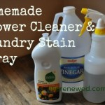 31 Days to Green Clean: Vinegar and Dishsoap for Shower Cleaner & Laundry Stain Remover