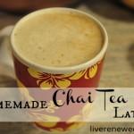 Homemade Chai Tea Latte with Dairy Free Option