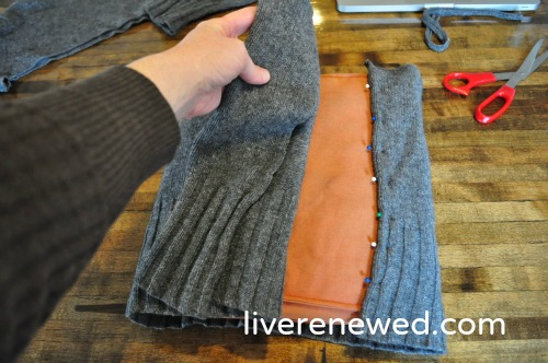 upcycled sweater pillow 5