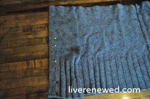 upcycled sweater pillow 6