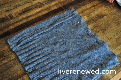 upcycled sweater pillow 7