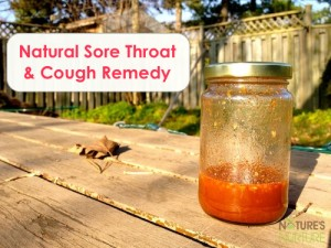 Natural Sore Throat Cough Remedy