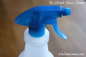 No Streak Homemade Glass Cleaner