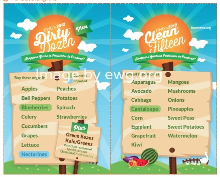 Dirty Dozen, Clean 15 Printable