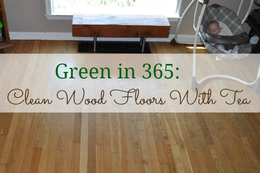 cleaning wood floors with tea
