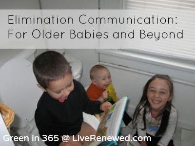 Some ideas for starting elimination communication for older babies or young children if you're interested in elimination communication but you're worried you missed the chance because your baby is older.
