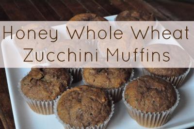 Honey Whole Wheat Zucchini Muffins