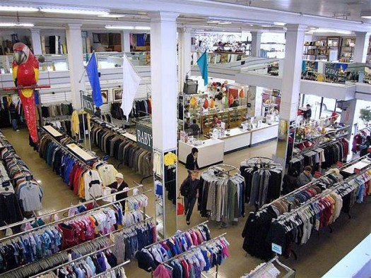 buying used clothes at thrift stores