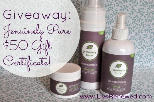 Jenuinely Pure $50 GC Giveaway!