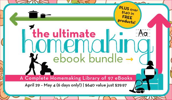 Ultimate Homemaking Ebook Bundle Sale