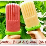 Healthy Frozen Fruit and Cream Bars {Raising Healthy Families}