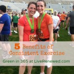 5 Benefits of Consistent Exercise {Green in 365: Outdoors}