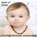 Spark of Amber teething necklaces