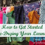 how to get started line dry laundry