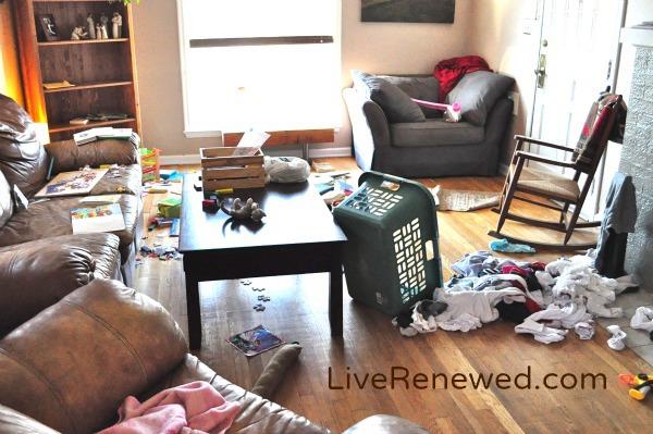 Messy House - one reason we need less stuff