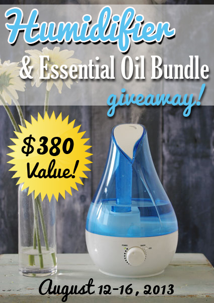 Humidifier & Essential Oil Giveaway