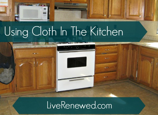 Using Cloth in the Kitchen: Green in 365 at LiveRenewed.com