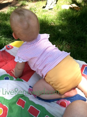 using cloth diapers on my little ones