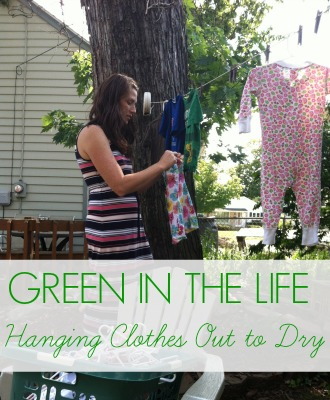 Green in the Life: Hanging Clothes to Dry