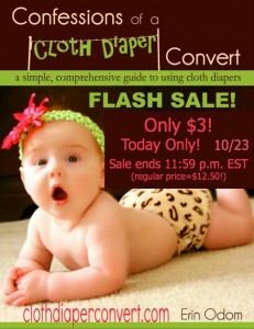TODAY ONLY! Get Confession of a Cloth Diaper Convert for just $3!