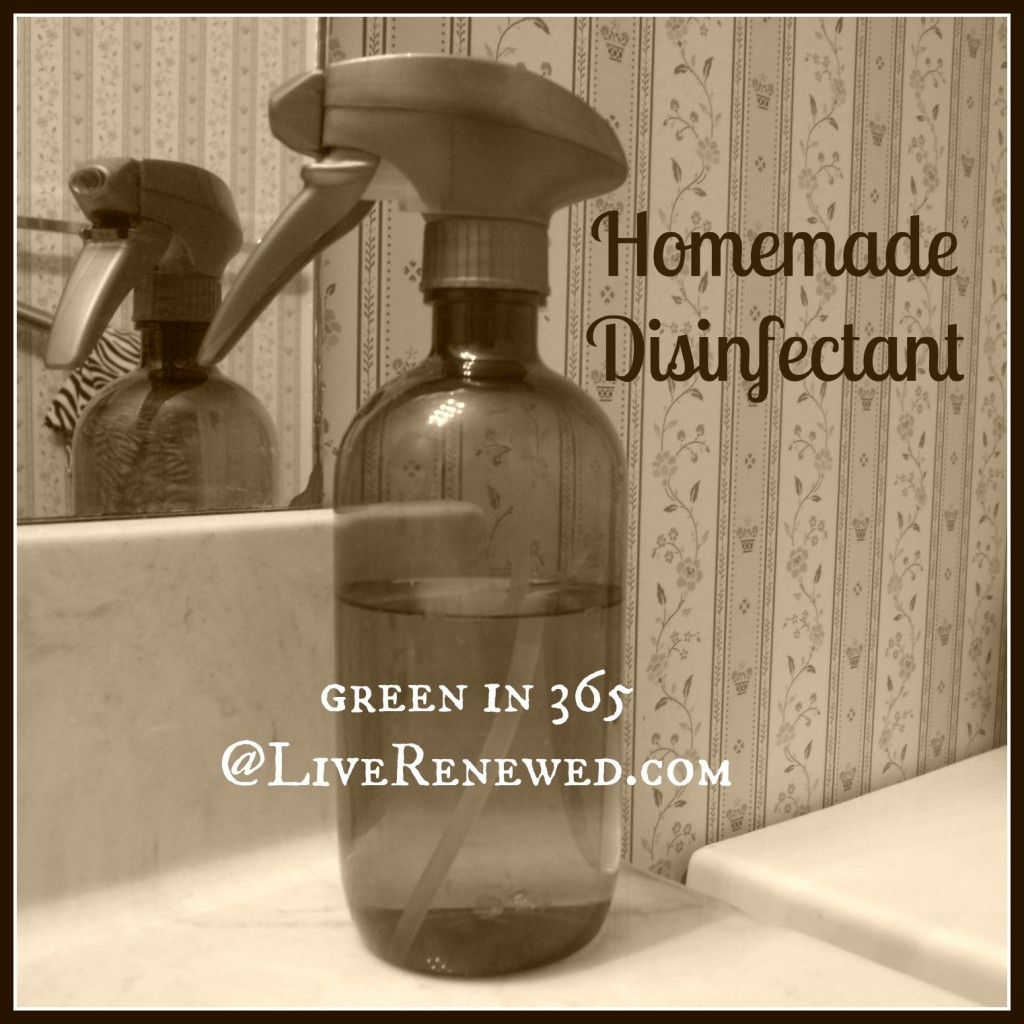 This is perfect for cold and flu season! How to make your own Homemade Disinfecting Spray at LiveRenewed.com