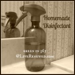 How to Make Homemade Disinfectant {Green in 365}