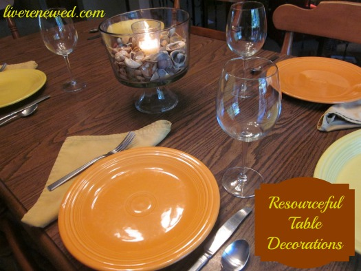 Resourceful Table Decorations {Live Renewed}