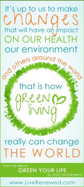 Green Your Life: A Guide to Natural, Eco-Friendly Living by Emily of LiveRenewed.com
