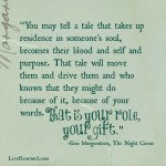 """""""That is your role, your gift."""" at LiveRenewed.com"""
