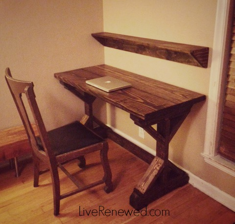 The desk that my hubs made for me!