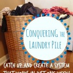 Conquering the Laundry Pile: Catch Up and Create a System that Works in Just One Week!