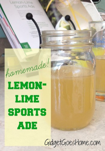 Lemon lime sports ade from GidgetGoesHome.com