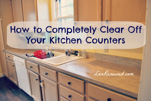 Clear Off Your Kitchen Counters