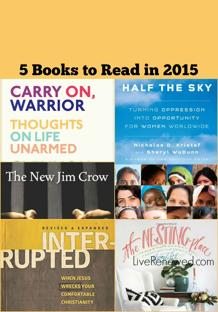 5 Books to Read in 2015 from LiveRenewed.com