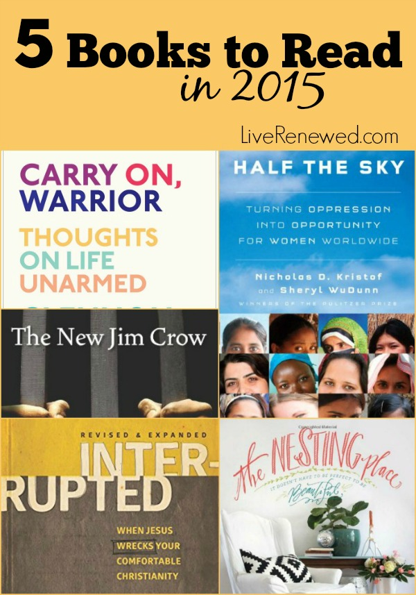 5 Books to Read in 2015 at LiveRenewed.com