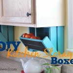 DIY Kitchen Storage Boxes at LiveRenewed.com