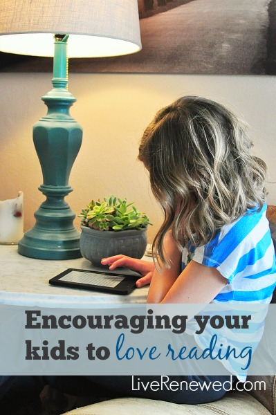 Do you have a child who is ready to dive into reading chapter books? Check out these ideas for encouraging your kids to love reading at LiveRenewed.com